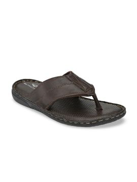 Brown Solid Comfort Sandals