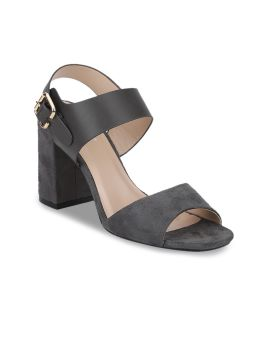 Charcoal Solid Sandals