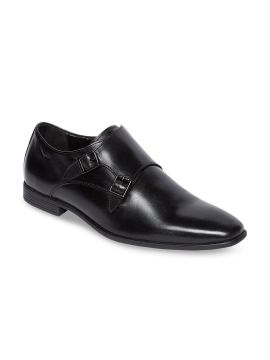 Black Leather Formal Monk Shoes