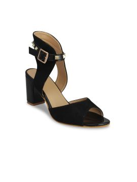 Black Solid Sandals