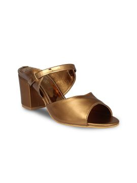 Copper-Toned Solid Sandals
