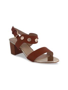 Rust Brown Solid Sandals