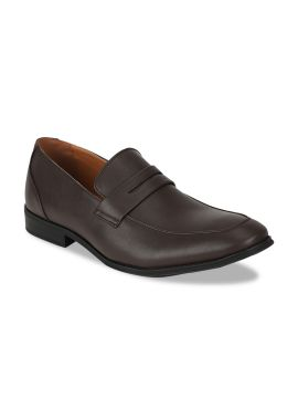 Brown Solid Slip-On Shoes