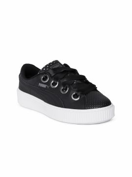 Black Solid Platform Kiss Ath Lux Sneakers