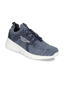 Navy Blue Mesh Walking Shoes