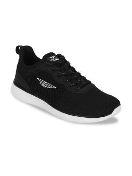 Black Mesh Walking Shoes