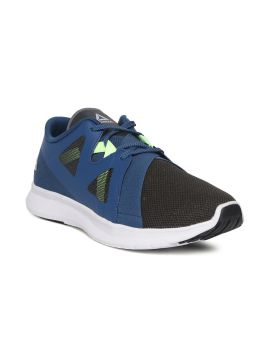 Olive Green & Blue Colourblocked Inspire Running Shoes