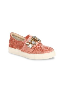 Pink Slip-On Sneakers