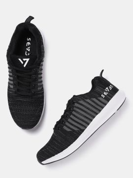 Black Striped Running Shoes
