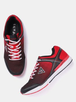 Red & Black Printed Running Shoes