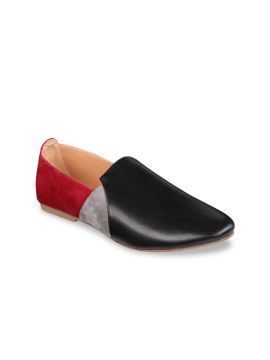 Black, Red & Grey Loafers