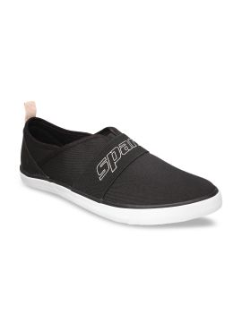 Black Slip-On  Casual Sneakers
