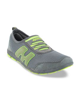 Grey Suede Running Shoes
