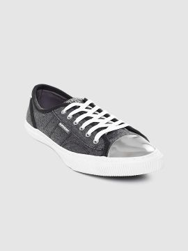 Charcoal Grey Solid Sneakers