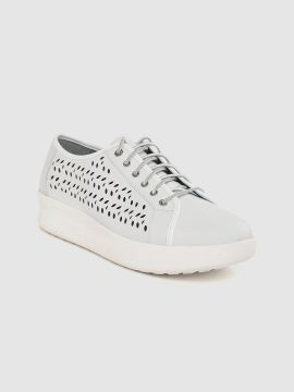 Grey Berlin Park Perf Oxford Leather Laser Cuts Sneakers