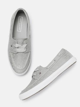 Grey Printed ESSENTIAL Boat Shoes
