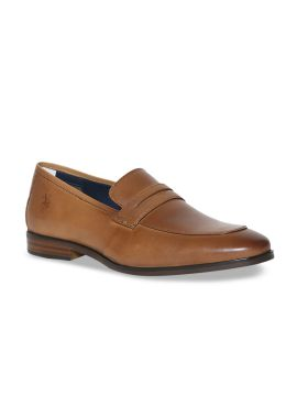 Tan Brown Leather Formal Penny Loafers