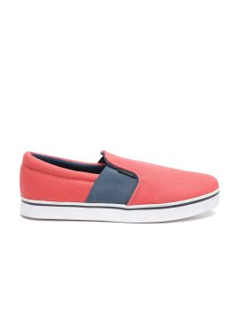 Coral Red Slip-On Sneakers