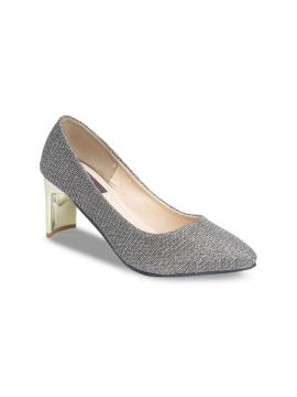 Gunmetal-Toned Solid Pumps