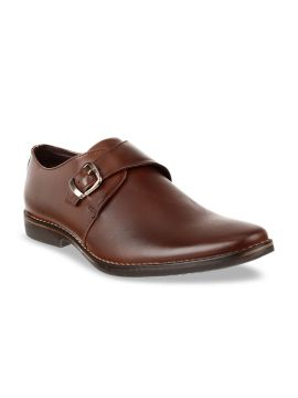 Coffee Brown Leather Monks