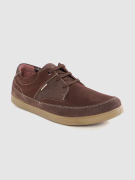 Brown Leather Solid Derbys