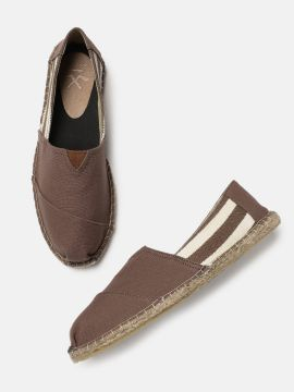 Brown Solid Espadrilles