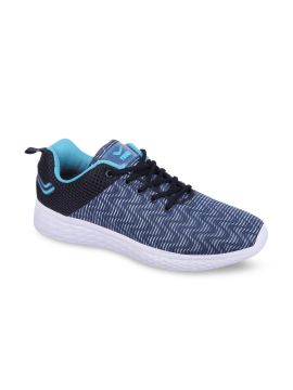 Navy Blue & White Running Shoes