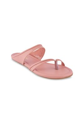 Pink Solid One Toe Flats