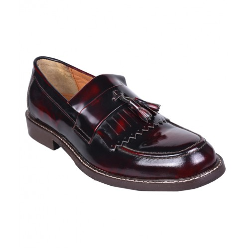MENS BROWN PATENT LEATHER PARTY SHOE
