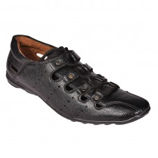 MENS BLACK CUTOUT SHOE