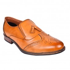 BROGUE TAN SLIPON