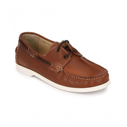 BROWN CASUAL BOAT SHOE