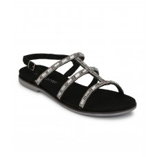 WOMEN BLACK GEMSTONE SANDAL